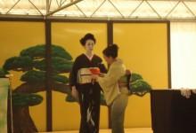 Vestizione della geisha e della oiran. Crespi Cup 2012.