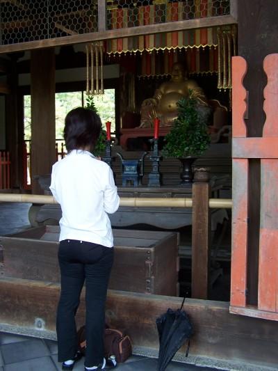 Davanti a Hotei, Manpukuji, Uji, 2007.