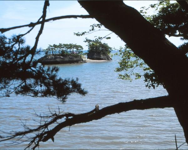 Sul mare davanti a Sendai: Matsushima. Agosto 2001.