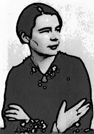 Mia rielaborazione da un ritratto fotografico della giovane Marguerite.