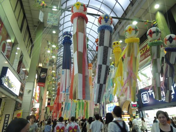 Tanabata a Sendai. Quando una città festeggia le stelle innamorate. Sendai, agosto 2013.