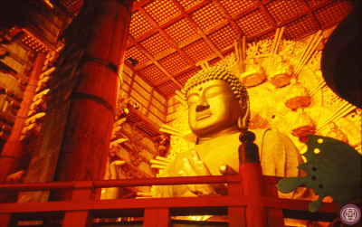 Il Daibutsu la notte di Obon. Nara, agosto  di un anno che non ricordo.