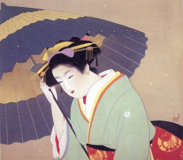 Bijinga di Uemura Shōen (1875-1949), importante pittrice di epoca Meiji, Taishō e Shōwa.