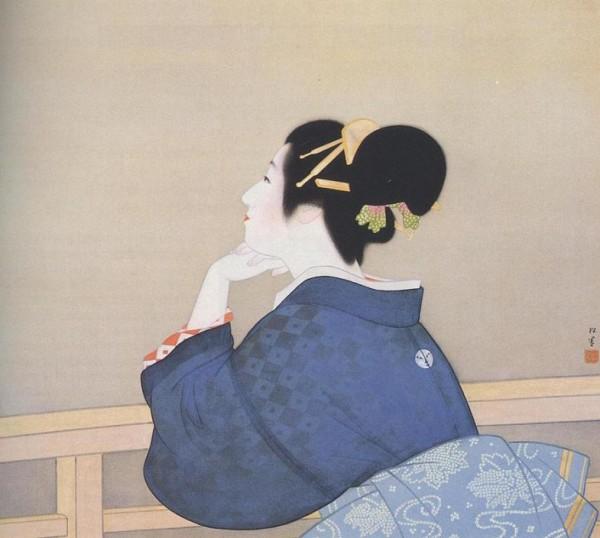 Dipinto di Uemura Shōen, pittrice vissuta fra il 1875 e il 1949.