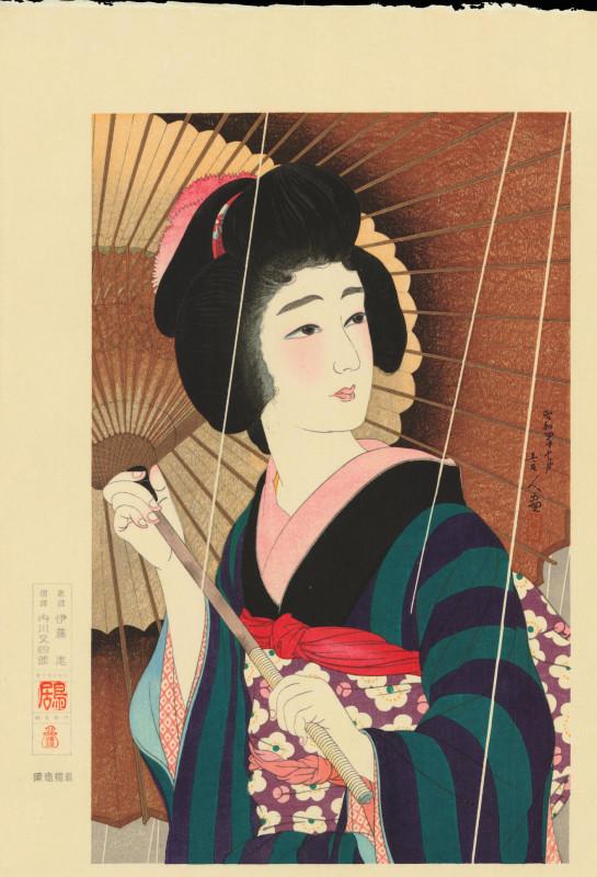 """Torii Kotondo, """"Pioggia"""", dalla serie Dodici aspetti delle donne, 1929 circa."""