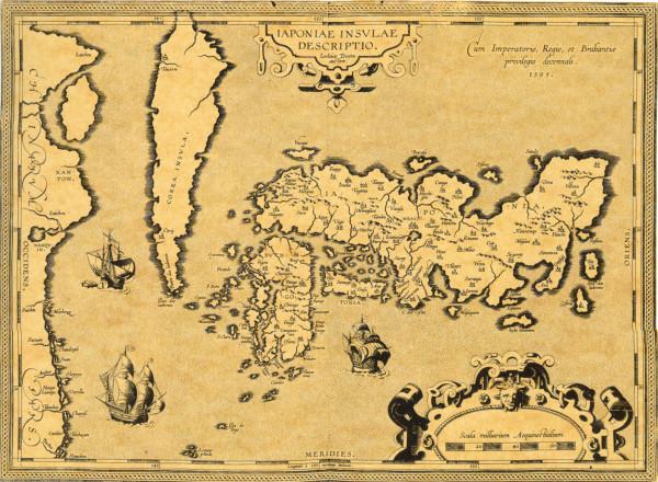 Abraham Ortelius, Carta del Giappone, 1595.